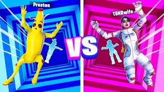 IMPOSSIBLE FORTNITE DROPPER Boy vs Girl Challenge