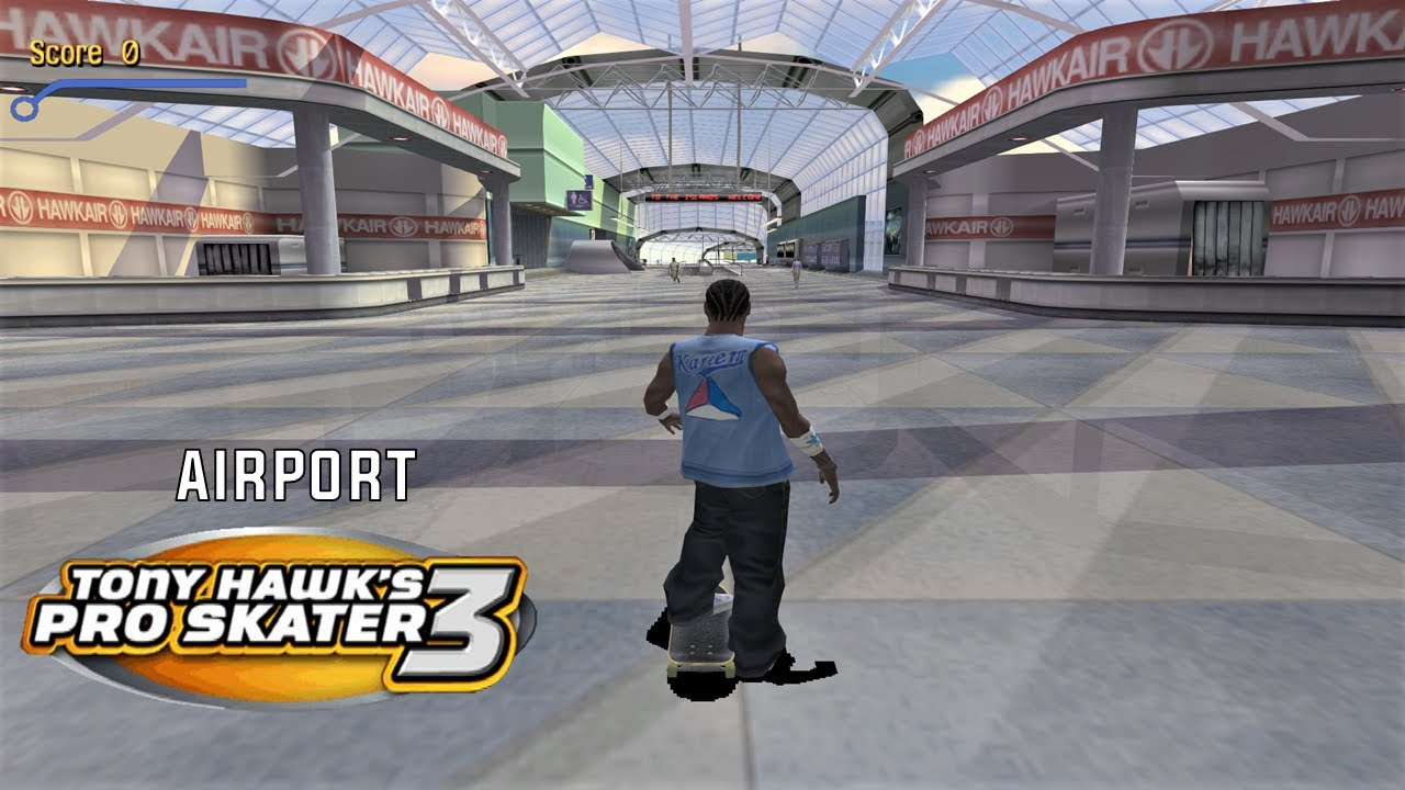 Tony Hawk's Pro Skater 3 (PS2) - Airport - 100% GOALS, STATS AND DECKS -  YouTube