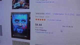 WWE ebay DVD lookups 12/11/18