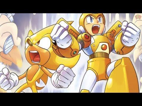 Sonic the Hedgehog and Mega Man: 'Worlds Collide Debut' Trailer【HD】 Super Sonic + Super Megaman