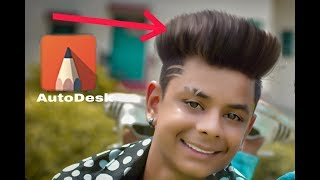 How to edit hairstyle in AutoDesk sketch book