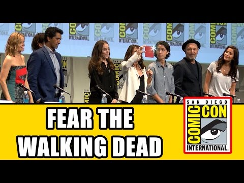Fear The Walking Dead Comic Con Panel - Cliff Curtis, Alycia Debnam Carey, Frank Dillane