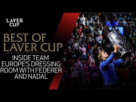 Federer and Nadal Inside Team Europe locker room | Laver Cup 2017