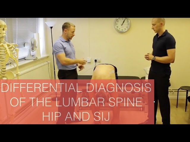 Differential diagnosis of the Lumbar spine, Hip and Sacroilliac joint