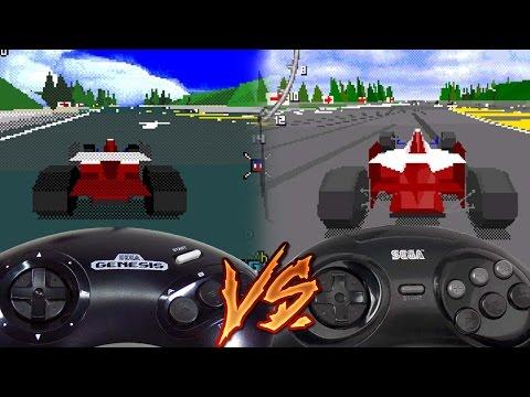 Sega Genesis Vs Sega 32x - Virtua Racing