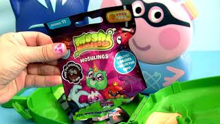 Superhero George Pig with Super Heroes Catboy Gekko PJ Masks Carry Case Surprise Toys