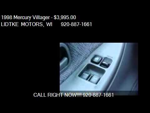 1998 Mercury Villager Gs Ls Nautica For Sale In Beaver