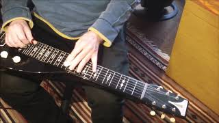 Lap Steel Guitar - Chord Study No 2. C6/A7 tuning