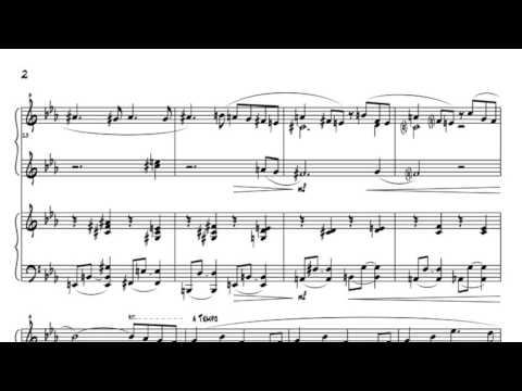 Just a sunray - piano 4 hands free score