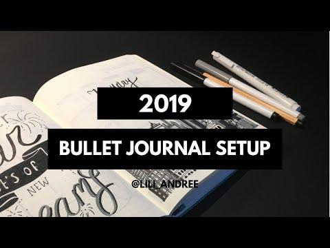 2019 BULLET JOURNAL SETUP & JANUARY PLANNER