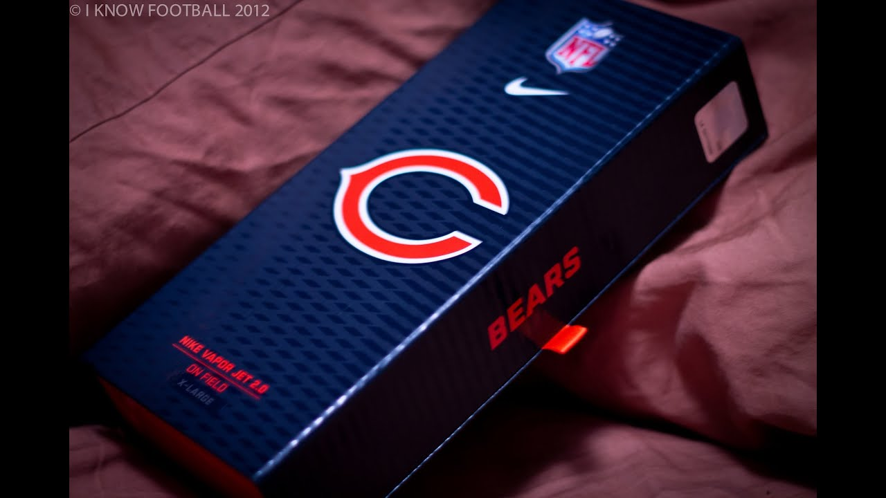 Ep. 41: Bears Nike Vapor Jet Football Gloves 2.0 Unboxing - YouTube