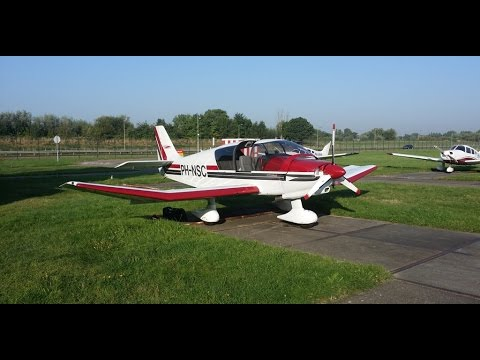 Rotterdam EHRD to Norwich airport EGSH Robin DR400