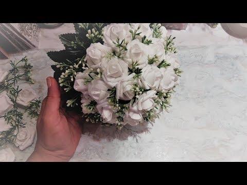 Свадебный букет 2 часть сбор  ✔ Marine DIY Guloyan✔