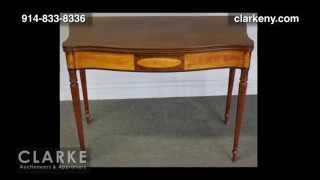 Antique Furniture | Sheraton Maple And Mahogany Flip Top Tea Table | From A Harrison Ny Estate