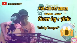 "Kekasih bayangan ""Cakra Khan"" Cover by Arie (Video Lirik) record pakai soundcard v8 +mic bm8000"