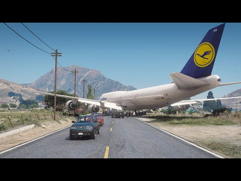 Pilot Accidentally Lands 747 On City Street During Emergency Landing | GTA 5 |