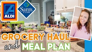 ALDI GROCERY HAUL & PRODUCT REVIEW | WEEKLY MEAL PLAN | SAM'S CLUB HAUL