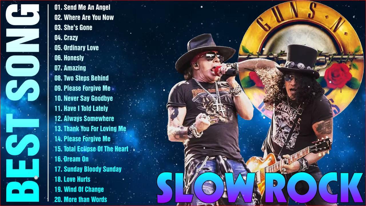 Slow Rock Rock Ballads 70' 80' 90' Playlist - Scorpions, Led Zeppelin, Bon Jovi, U2, Aerosmith