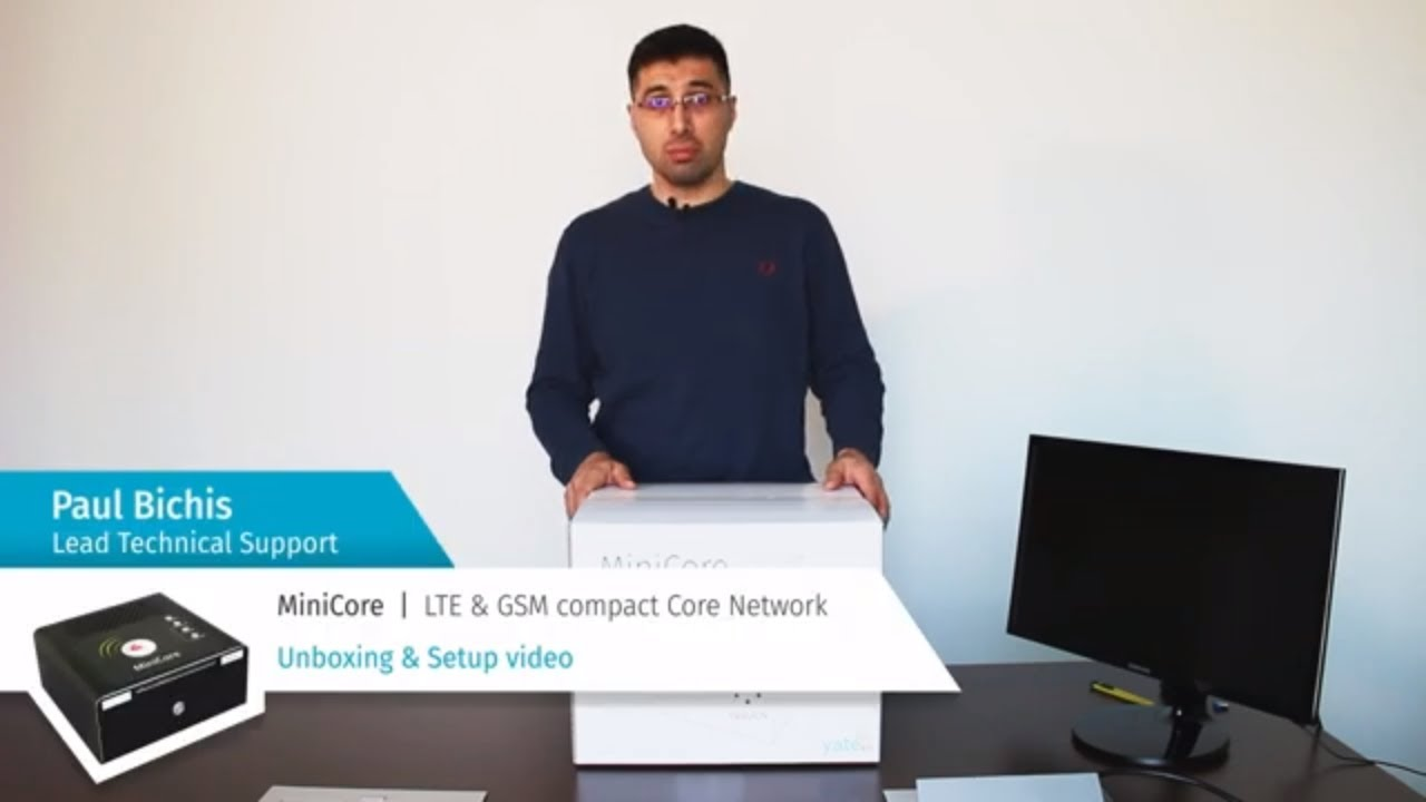 MiniCore - Test Core Network unboxing and configuration in YateMMI