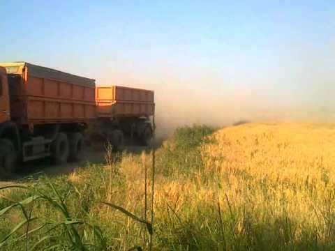 КамАЗ 45143 сельхозник с прицепом - YouTube