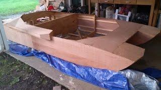 Homemade plywood jet boat pt.7(sheathing)
