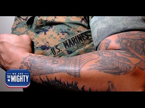 Break out the rulers, the Marine Corps' new tattoo policy is here