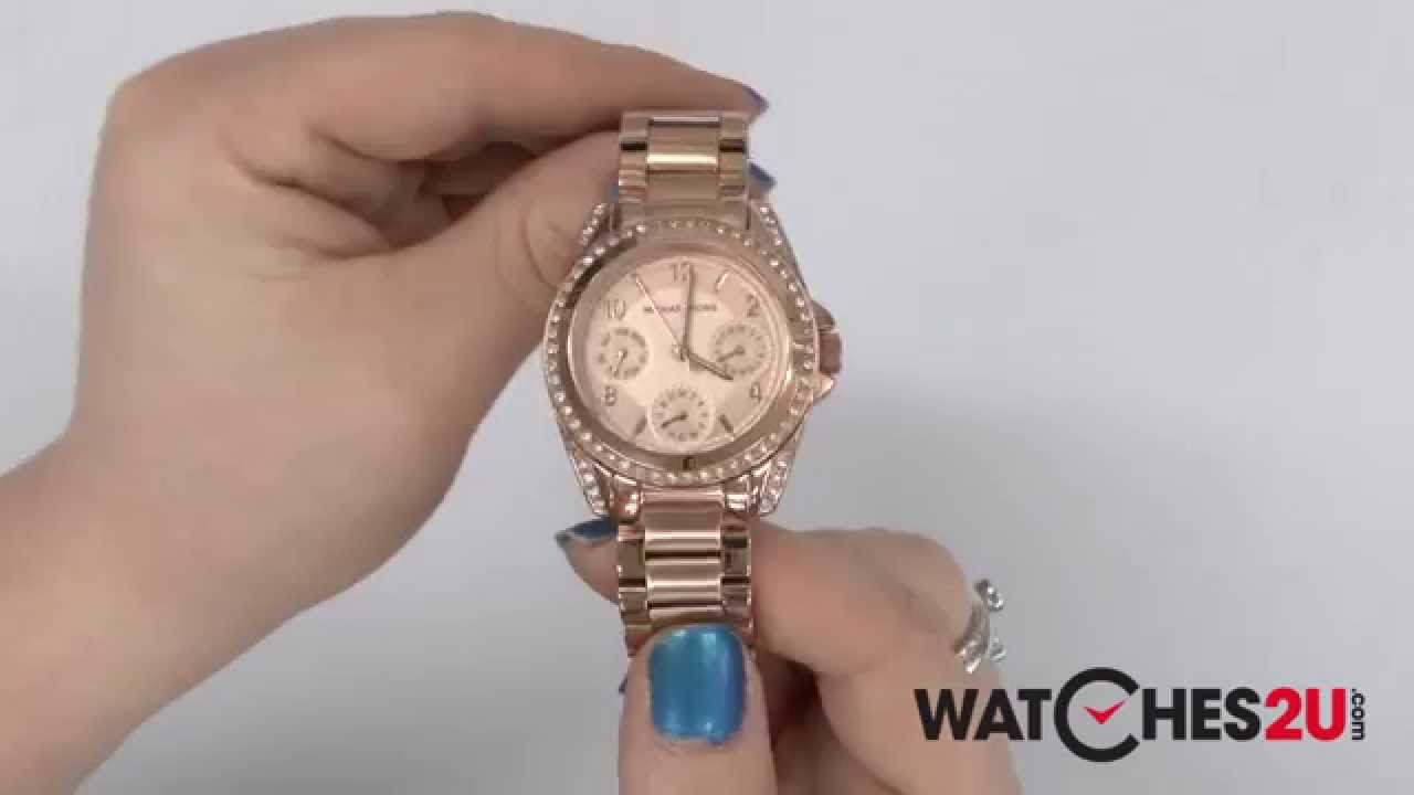 5d16c50b2e3a MK5613 Michael Kors Ladies Blair Rose Gold Watch - YouTube
