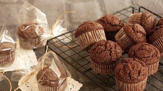 バレンタインはシンプルに!極旨♡チョコカップケーキ   Chocolate Cupcakes
