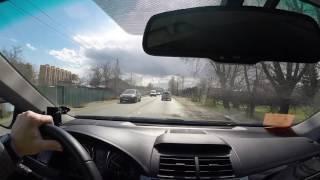Тойота Камри 2.0 2016. Движение по трассе, разгон.