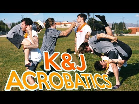 KNJ TRY IMPOSSIBLE ACROBATICS (COVERED IN BABY OIL!)