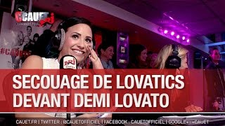 Secouage de Lovatics devant Demi Lovato - C'Cauet sur NRJ