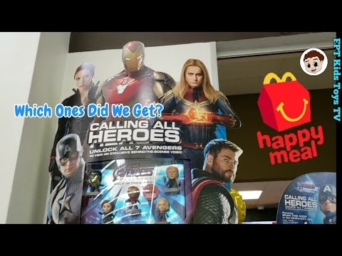 Avengers Endgame McDonald's Display Case and Unboxing | Team Suit Edition | FPT Kids Toys TV
