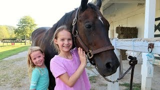 Addy's First Horseback Riding Lesson