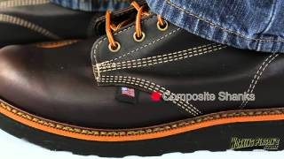 Thorogood Boots: Men's Brown American Heritage 814-4269 USA-Made EH Work Boots Mp3