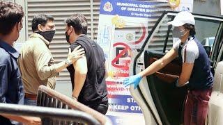 Arbaaz Khan Apne Bete Arhaan Khan Ke Sath Pahuche Vaccine Centre At Dadar
