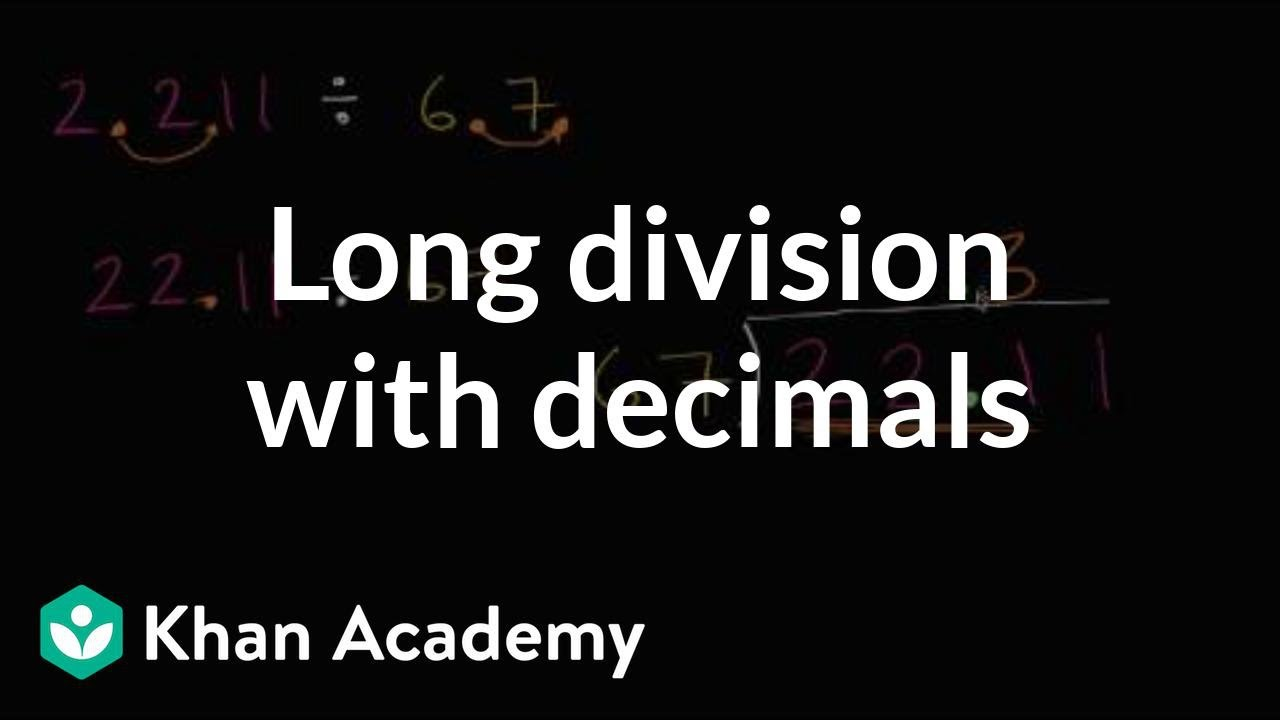 medium resolution of Long division with decimals (video)   Khan Academy