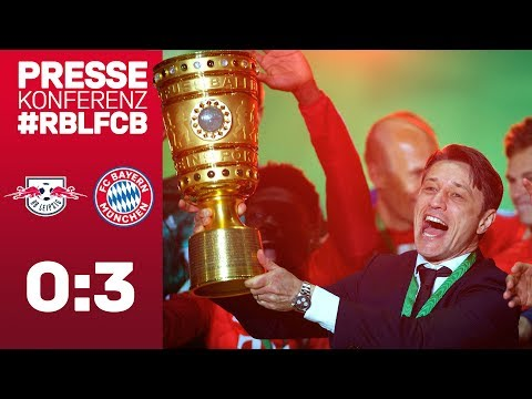 Double Press Conference w/ Niko Kovac after the DFB Cup Final  RB Leipzig vs. FC Bayern 0-3