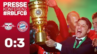 Double Press Conference w/ Niko Kovac after the DFB Cup Final |RB Leipzig vs. FC Bayern 0-3