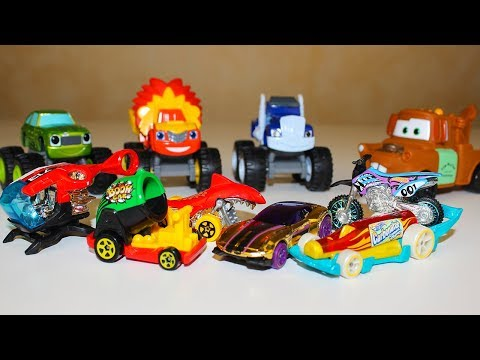 Видео про машинки ТАЧКИ Вспыш и чудо машинки Киндер Сюрпризы Хот Вилс Видео для детей