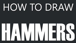 How To Draw A Hammer - Cast Iron Hammer Drawing (Mallet Construction Tools)