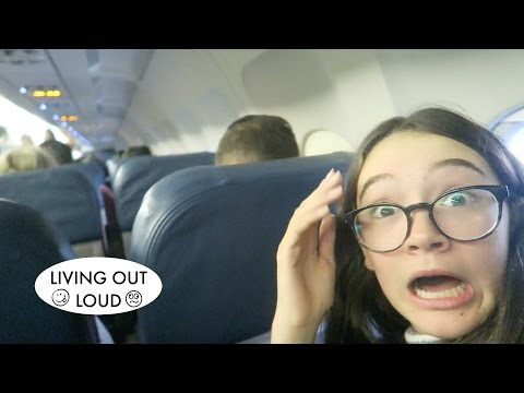 Crazy Turbulent Flight!! | Travel Adventures & Road Trips | 2.116| Living Out Loud Vlog