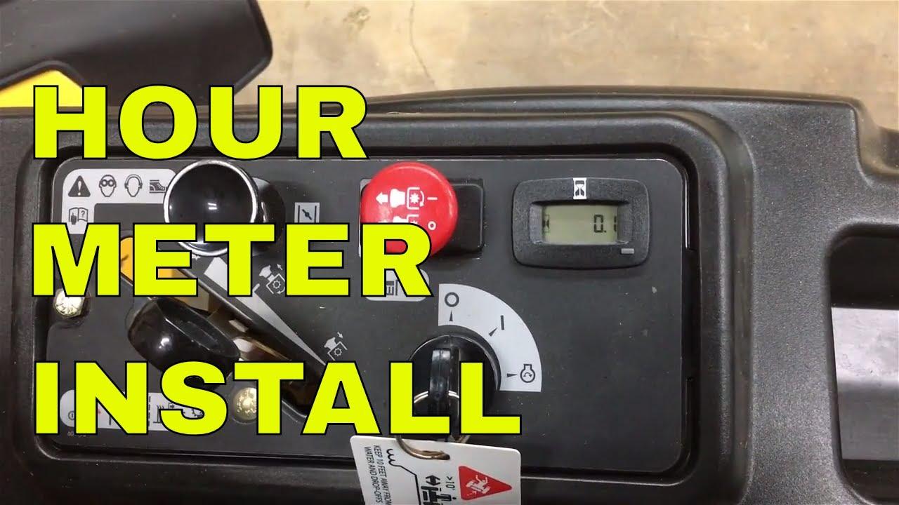 Hustler mower hour meter picture 317