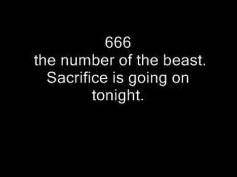 Iron Maiden - the number of the beast (lyrics)