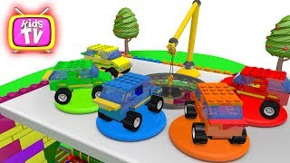 Learn Colors with lego cars and Balls Cartoons for children Video for kids