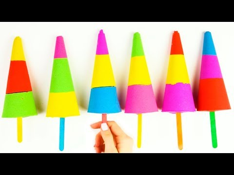 Kinetic Sand For Kids DIY Creative Video for Kids Learn Colors