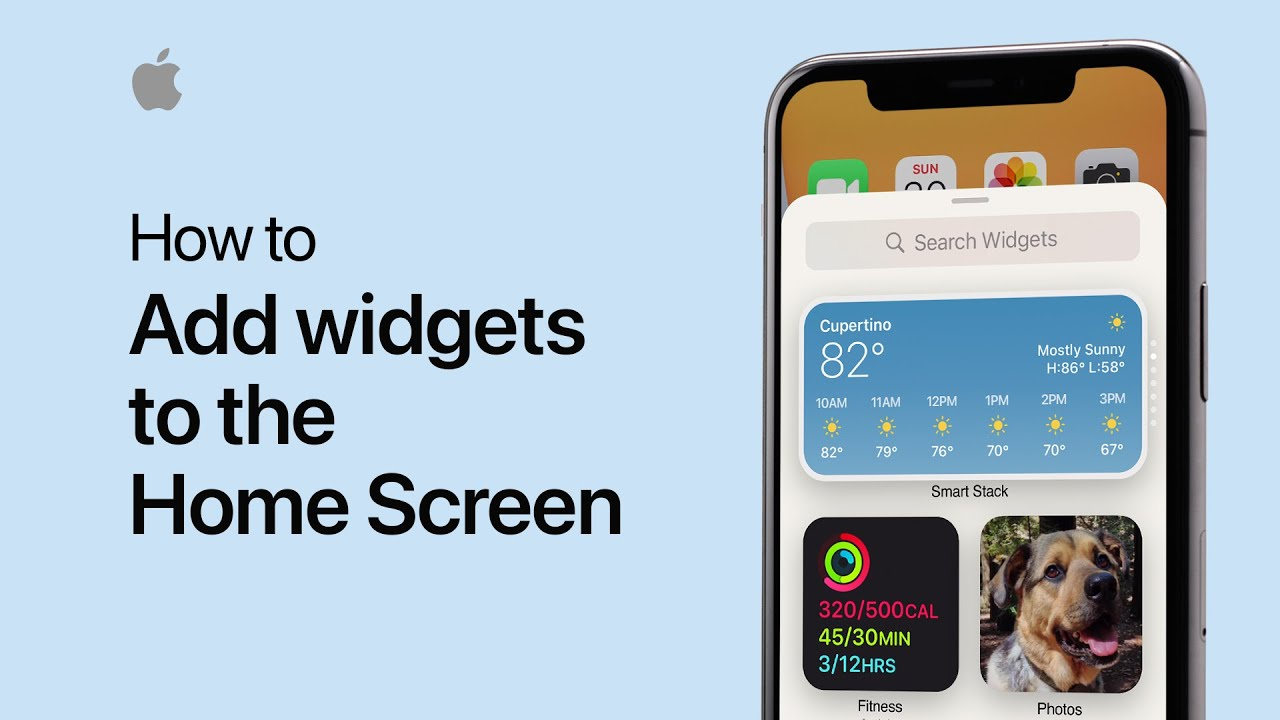 How to add widgets to the Home Screen on your iPhone — Apple Support