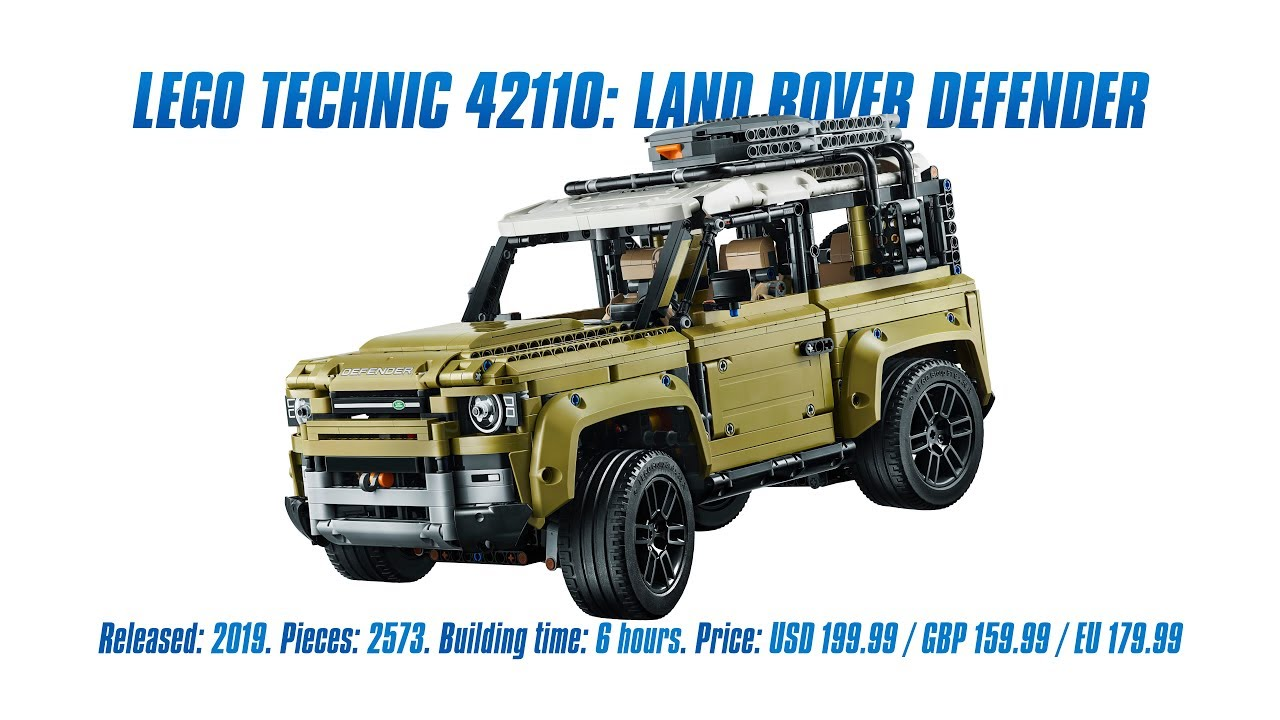 LEGO Technic 42110: Land Rover Defender: In-depth Review, Speed Build & Parts List [4K]