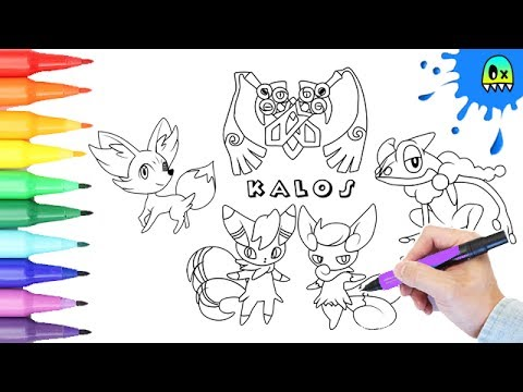 Pokemon Coloring Pages Kalos 2 I Fun Videos For Kids