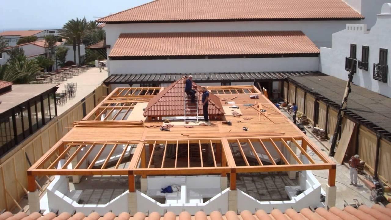 P rgola con teja pl stica roofy tejado en canarias youtube - Tejados para pergolas ...