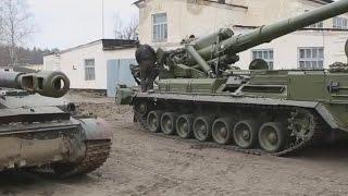 Украинские каратели расконсервировали гаубицы Пион
